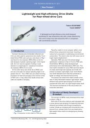Lightweight and High-efficiency Drive Shafts for Rear-wheel ... - NTN