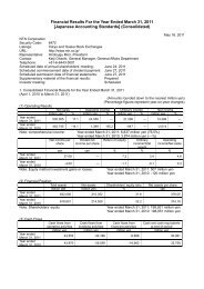 Financial Results For the Year Ended March 31, 2011 ... - NTN