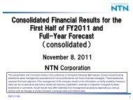 Business Results - NTN