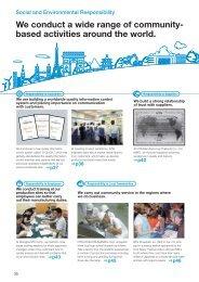 Social and Environmental Responsibility - NTN