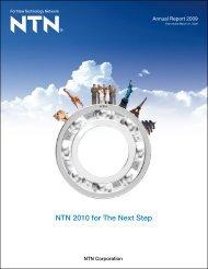 Annual Report 2009 - NTN