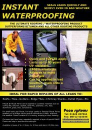Fillcoat - Waterproof repair coating of roofs, non ... - Paco Systems