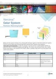 Vanceva Pantone Color Match - PRL Glass Systems Inc
