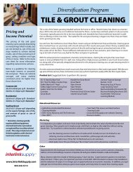 TILE & GROUT CLEANING - Carpet Cleaning Equipment