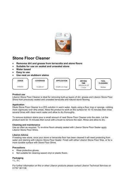 Stone Floor Cleaner Agwoodcare Co Uk
