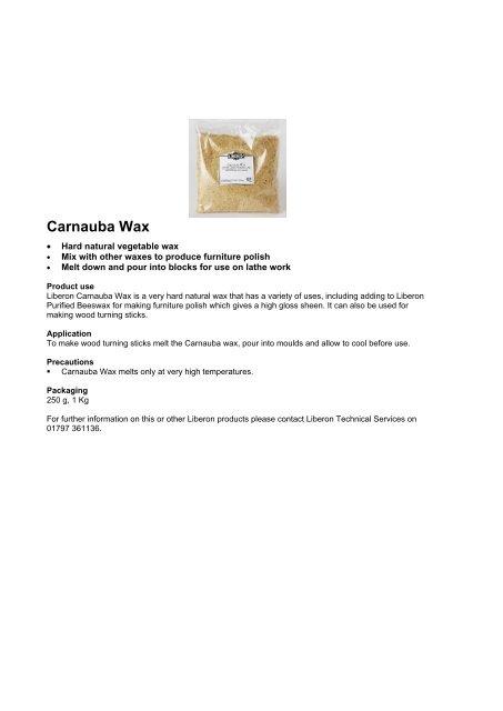 Carnauba Wax Agwoodcare Co Uk