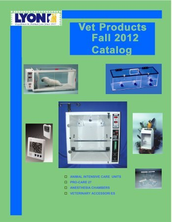 Vet Products Fall 2012 Catalog Fall 2012 Catalog - Lyon