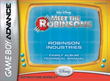 INSTRUCTION BOOKLET - Disney Games