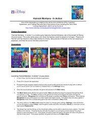 Hannah Montana - In Action - GO.com - Disney Games