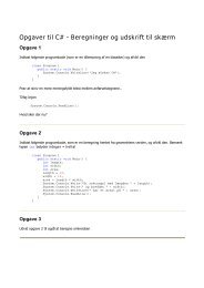CSharp-opgaver - Simple beregninger