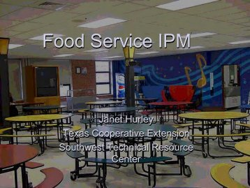 Food Service IPM - School Integrated Pest Management