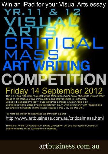 Critical Mass Entry Form. - Art Business