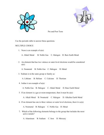 Test 7 periodic table review questions name wednesday pre and post tests use the periodic table to answer these questions urtaz Images