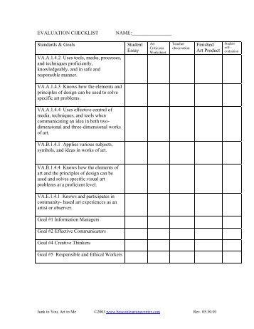 Printables Art Critique Worksheet Lemonlilyfestival Worksheets