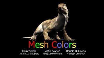 Mesh Colors - Cem Yuksel
