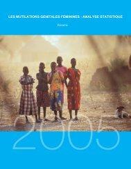les mutilations genitales feminines : analyse statistique - Childinfo.org