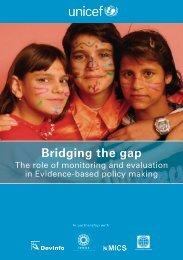 Bridging the gap - Unicef