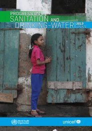 Progress on sanitation and drinking-water - UNICEF Joint ...