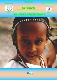 EDIM 2006 RAPPORT PRELIMINAIRE - Childinfo.org