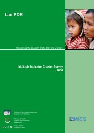 Multiple Indicator Cluster Survey, 2006 - Childinfo.org