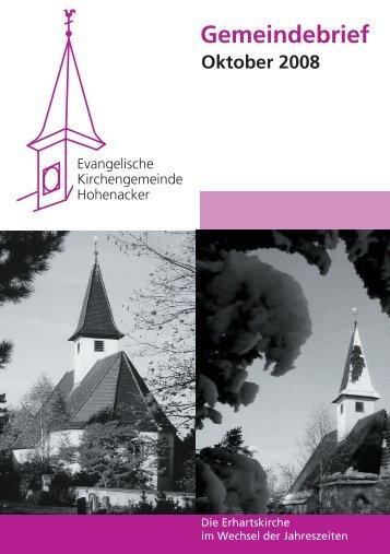 Gemeindebrief Oktober 2008 - Evangelische Kirchengemeinde ...