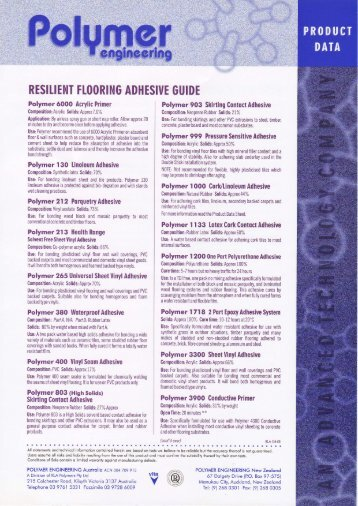 Resilient Flooring Adhesive Guide - MJS Floorcovering