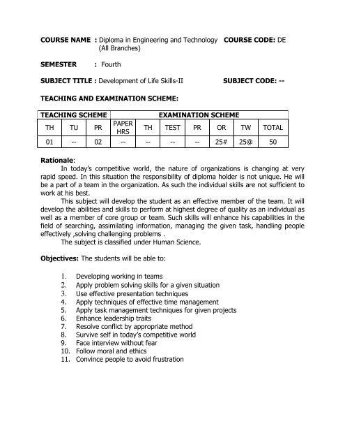Development of Life Skills-II pdf