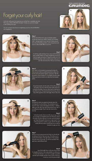 Forget your curly hair! - Grundig .NO