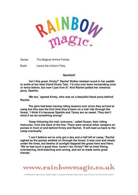 Series: The Magical Animal Fairies Book: Leona     - Rainbow Magic
