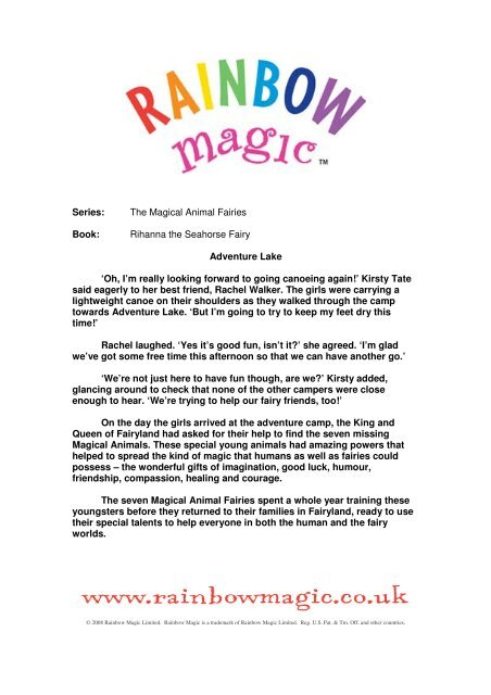 Series: The Magical Animal Fairies Book: Rihanna