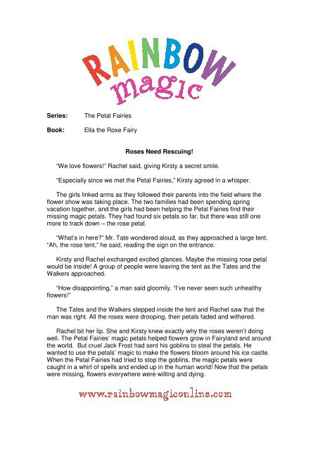 Book: Roses Need Rescuing! - Rainbow Magic