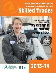 High School Completion and Your Future in the Skilled Trades