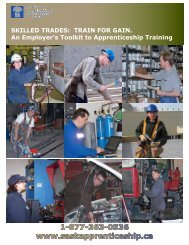 An Employer's Toolkit to Apprenticeship Training - Saskatchewan ...