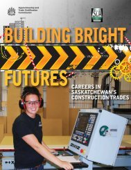 SCA - Saskatchewan Apprenticeship and Trade Certification ...