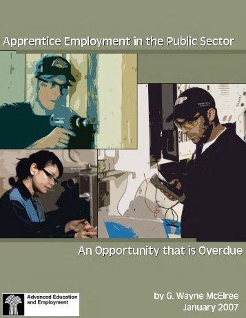 Apprentice Employment in the Public Sector - Saskatchewan ...