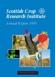 PDF file: Annual Report 1995 - Scottish Crop Research Institute