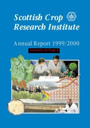 PDF file: Annual Report 1999/2000 - Scottish Crop Research Institute