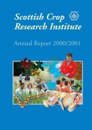 PDF file: Annual Report 2000/2001 - Scottish Crop Research Institute