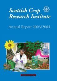 SCRI Annual Report 2003/2004 - Scottish Crop Research Institute