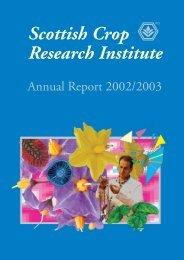 PDF file: Annual Report 2002/2003 - Scottish Crop Research Institute