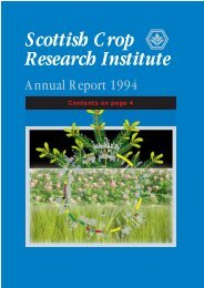 PDF file: Annual Report 1994 - Scottish Crop Research Institute