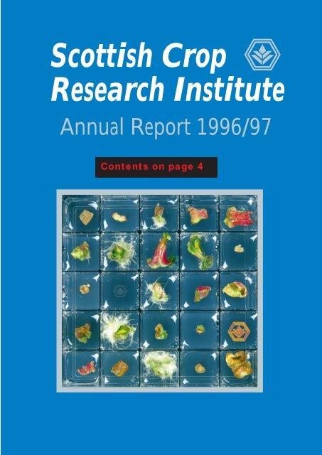 PDF file: Annual Report 1996/1997 - Scottish Crop Research
