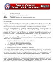 Central office staffing process clarification – April 4, 2013