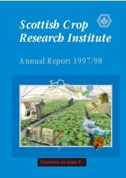 SCRI Annual Report 1997/1998 - Scottish Crop Research Institute