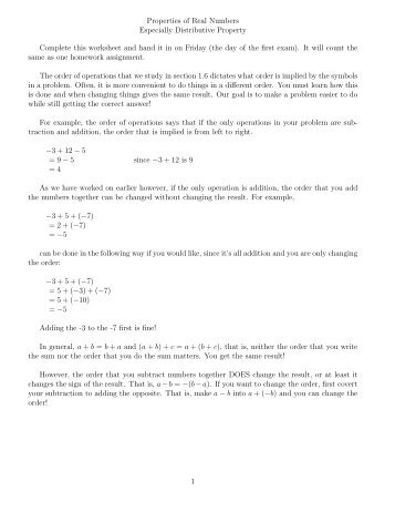 Worksheets Properties Of Real Numbers Worksheet properties of real numbers worksheets worksheet worksheet