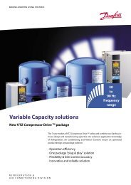 Variable Capacity solutions - Danfoss