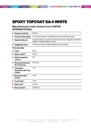 Download specifications - Tambour Paints
