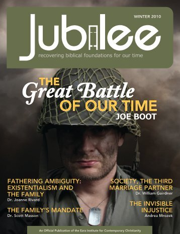 Jubilee - Winter 2010 - Ezra Institute for Contemporary Christianity