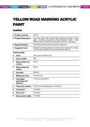 2 yellow road marking acrylic paint lead free - Tambour Paints