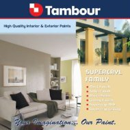 Bring elegance and warmth to your home with ... - Tambour Paints
